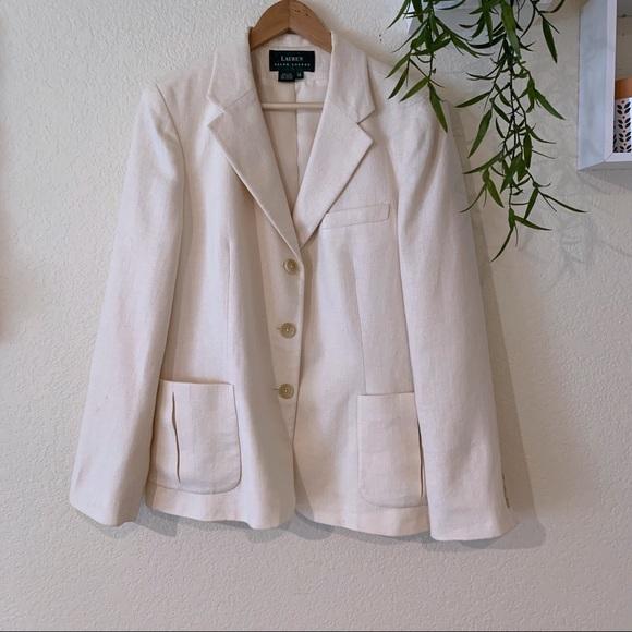 111497f4e20 Lauren Ralph Lauren Jackets & Blazers - Lauren Ralph Lauren cream silk  blazer
